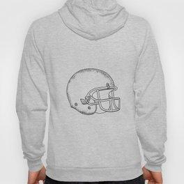 American Football Helmet Black and White Drawing Hoody