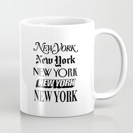 I Heart New York City Black and White New York Poster I Love NYC Design black-white home wall decor Coffee Mug