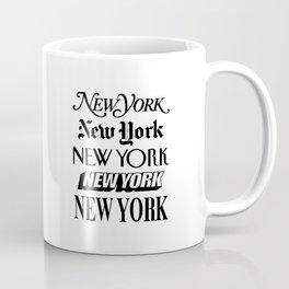 I Heart New York City Black and White New York Poster I Love NYC Design black-white home wall decor Kaffeebecher