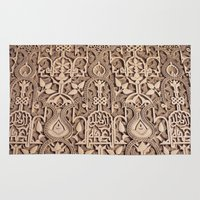 arabic Area & Throw Rugs featuring Arabic Patterns by Laurais Arts