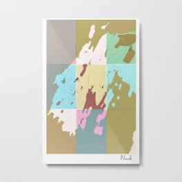 Nuuk, Greenland, city map Metal Print