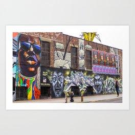Bushwick, Brooklyn Street Art - Biggie Creative Collective Art Print