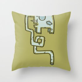 Olive Patch Throw Pillow