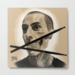 Travis Barker / Drums til Death Metal Print