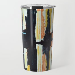Abstract Lines Painting Travel Mug