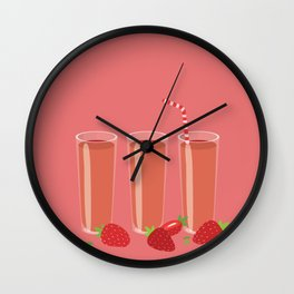Strawberry juices Wall Clock
