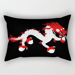 Dragon-A variation on the flag of Bhutan. Rectangular Pillow