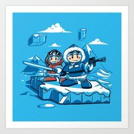 Hoth Climbers Art Print