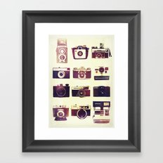 Analog Love Framed Art Print
