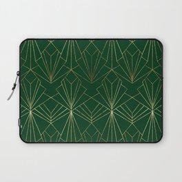 Art Deco in Gold & Green Laptop Sleeve