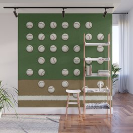Balls On Field Wall Mural