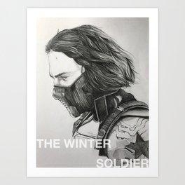 The Winter Soldier (sketch) Art Print