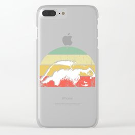 Beavers Love Wood Design Prepared For Digital Direct Printing Against A Transparent Background Clear iPhone Case