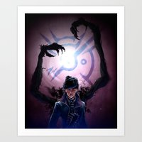 dishonored Art Prints featuring Long Live the Empress by animatenowsleeplater