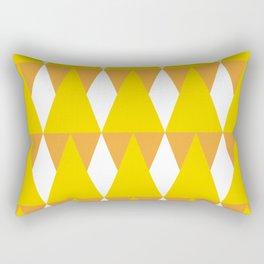 CVPA20029 Diamonds and Triangles Yellow Orange White Rectangular Pillow