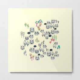 Forest Of Owls Metal Print
