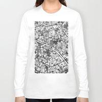 mondrian Long Sleeve T-shirts featuring Paris Mondrian by Mondrian Maps