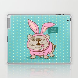 A hoppy bulldog! Laptop & iPad Skin