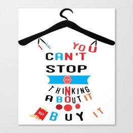 Profashion designer stylish t-shirt Canvas Print