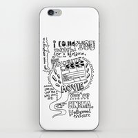 lyrics iPhone & iPod Skins featuring Lettering Lyrics by Insait