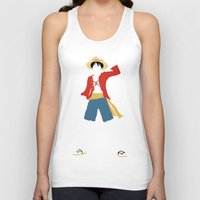 luffy Tank Tops featuring Monkey D Luffy by JHTY