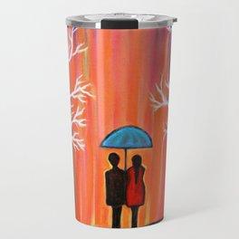 Colors Of Love Romantic Colorful Rainy Painting Travel Mug