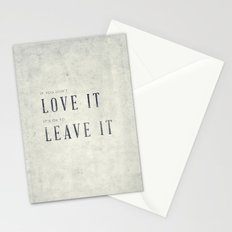 If you don't love it… A PSA for stressed creatives. Stationery Cards