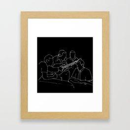 Wes and Duke jam session Framed Art Print