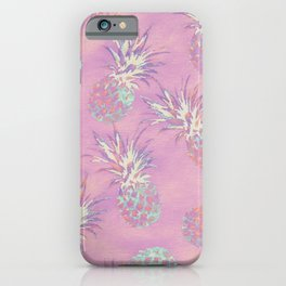 Pink Pineapple Pattern iPhone Case