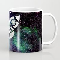 spaceship Mugs featuring Spaceship by Cs025