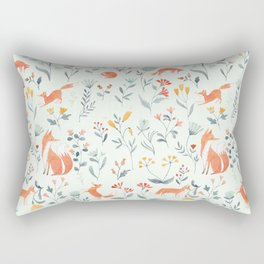Fox & Kits Rectangular Pillow
