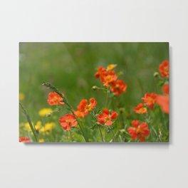 Pretty Wild Flowers Metal Print
