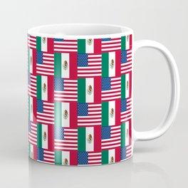 Mix of flag: mexico and usa Coffee Mug