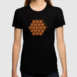 Reception retro geometric pattern T-shirt