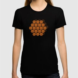 Reception retro geometric pattern T-shirt