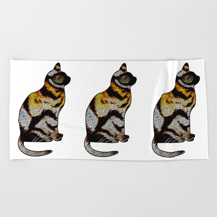 CAT TIGER Beach Towel