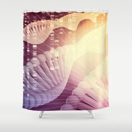 DNA Medical Science and Biotech Chemistry Genes Shower Curtain