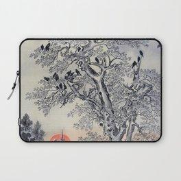 12,000pixel-500dpi - Kawanabe Kyosai - Flock Of Crows At Dawn - Digital Remastered Edition Laptop Sleeve