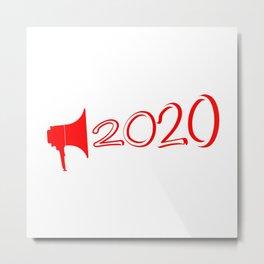 Red 2020 Megaphone Metal Print