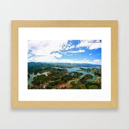 Birds eye view Framed Art Print