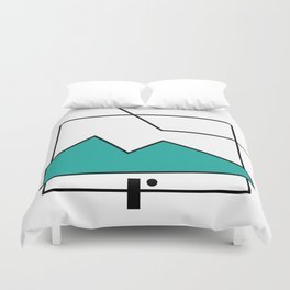 ABSTRACT MOUNTAIN LINES Duvet Cover