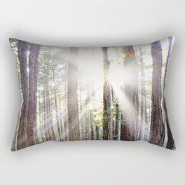 Sunburst Through the Redwoods Rectangular Pillow