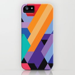 Flat Geometry 01 iPhone Case