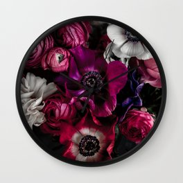 Dark Flowers 1 Wall Clock