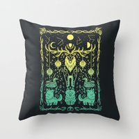 balance Throw Pillows featuring Balance by Shirley Jackson