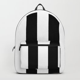 Simply Vertical Stripes in Midnight Black Backpack