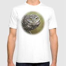 Burrowing Owl  Mens Fitted Tee MEDIUM White