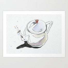 Teapot & Bubbles Art Print