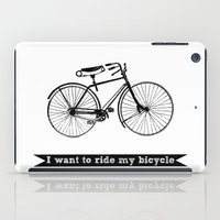 bicycle iPad Cases featuring bicycle by Beverly LeFevre