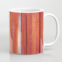 Red Rustic Fence rustic decor Coffee Mug